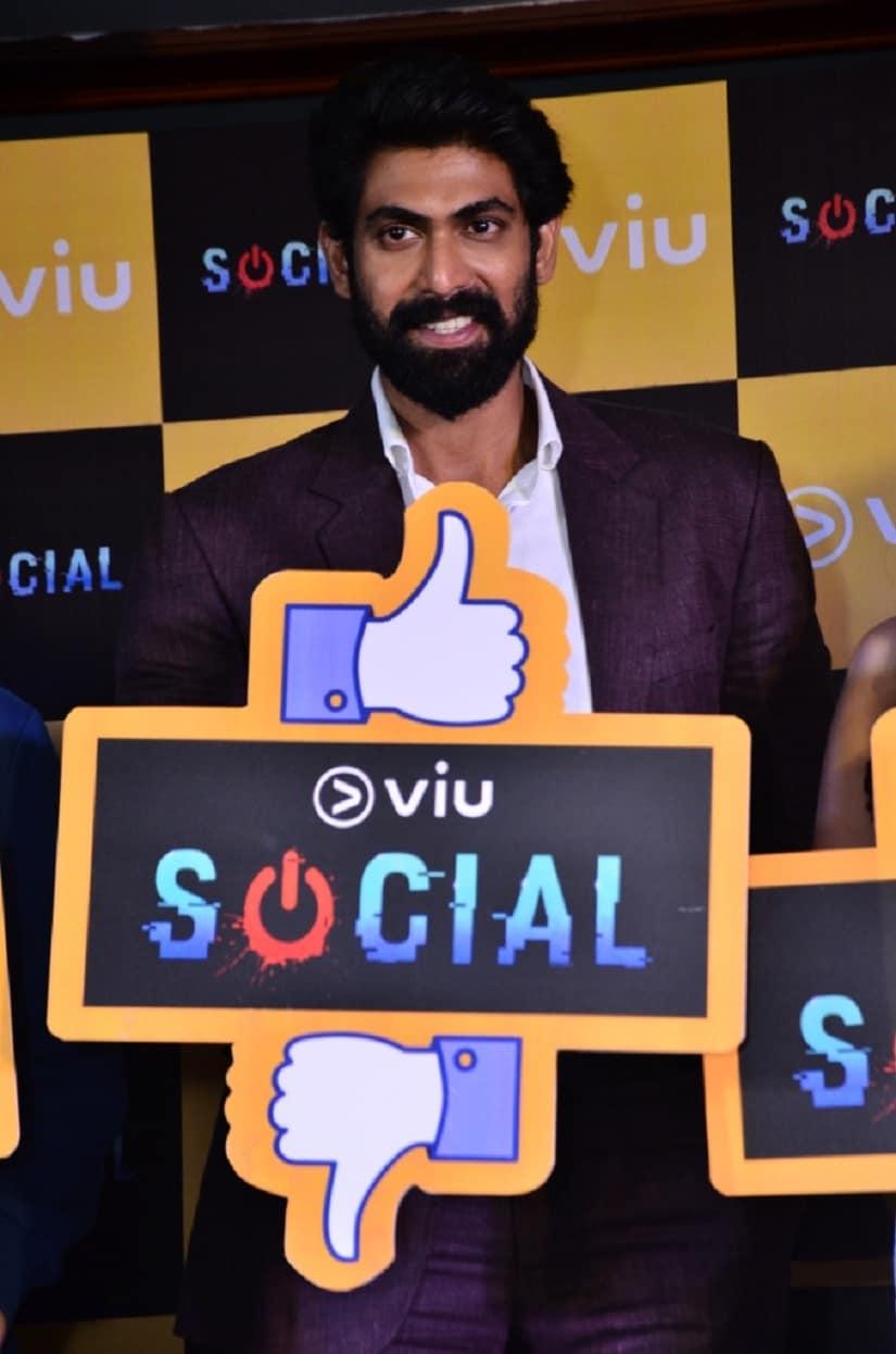 Rana Daggubati at the launch of Viu's Social