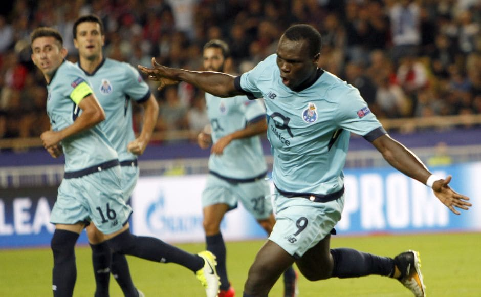 Vincent Aboubakar scored twice as Monaco were handed a shock 3-0 defeat at home to FC Porto. AP
