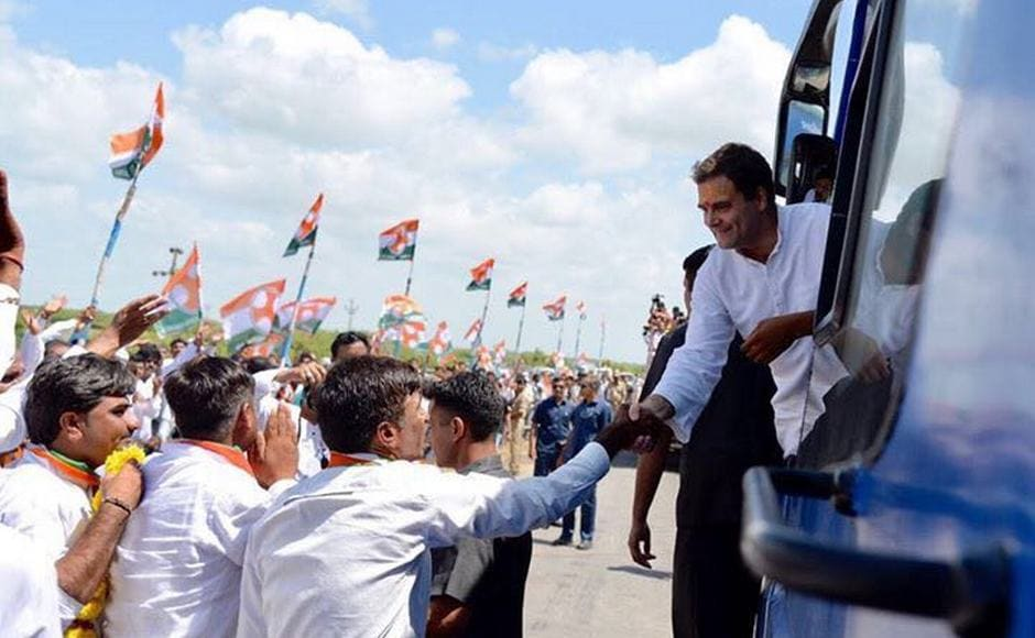 Congress vice-president Rahul Gandhi started a three-day tour of the poll-bound state of Gujarat where his party has been out of power for over two decades now. Firstpost/ Darshan Desai
