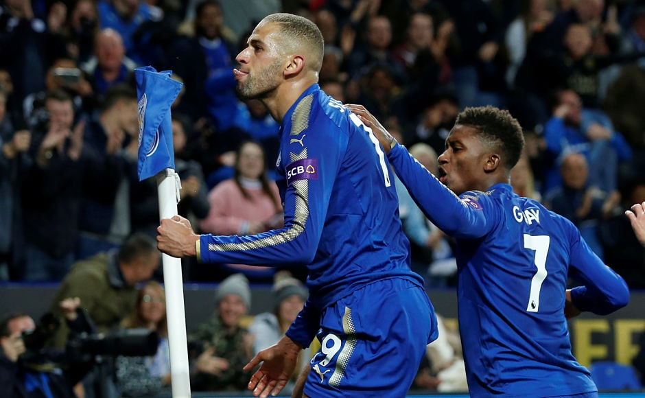Islam Slimani and Shinji Okazakinetted for Leicester City as Craig Shakespeare's sideknocked Liverpool out of the League Cup. Reuters