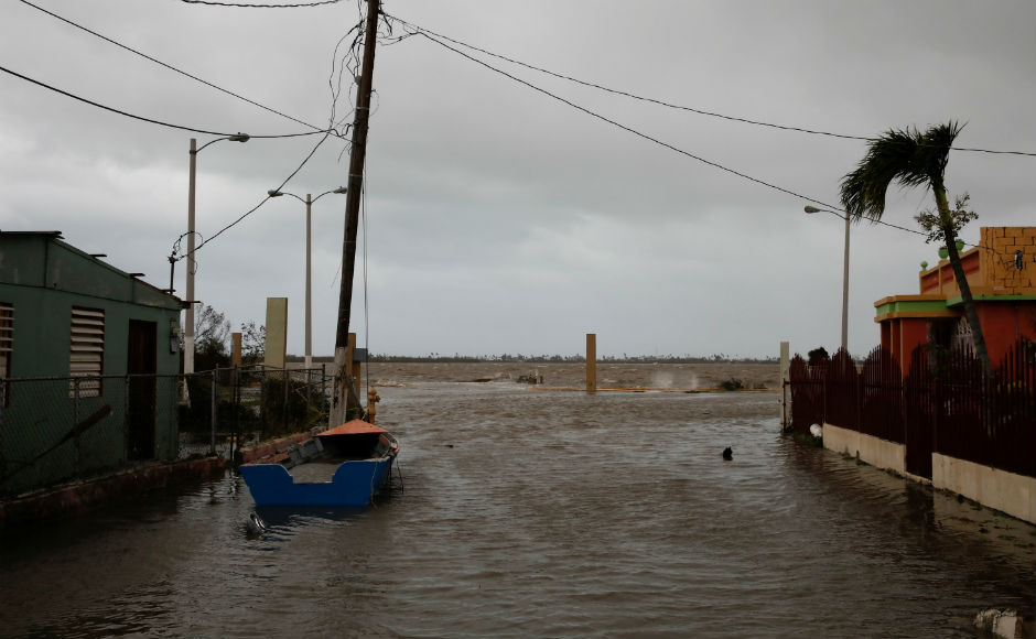 Emergency officials said that the hurricane destroyed power lines on the entire island of Puerto Rico. The US National Hurricane Center said