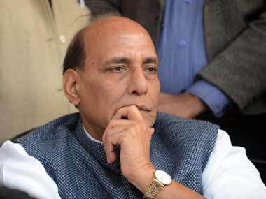 File image of Union home minister Rajnath Singh. AFP