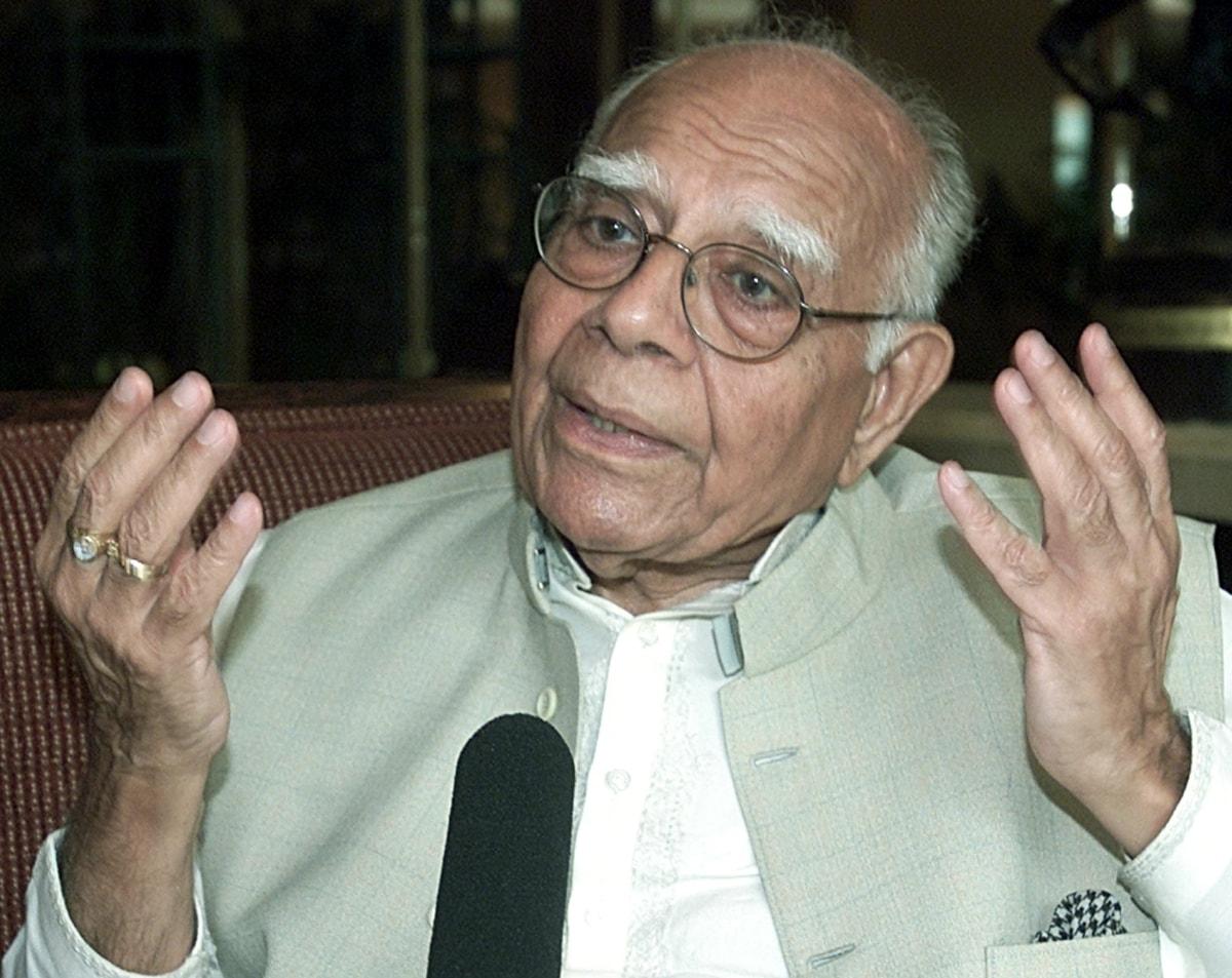 Ram Jethmalani calls for Mamata Banerjee-led Third Front to