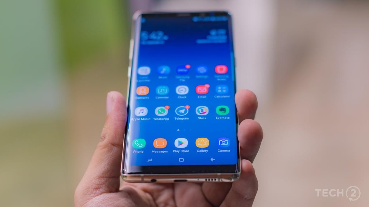 The Samsung Galaxy Note 8. Image: Tech2/Rehan Hooda