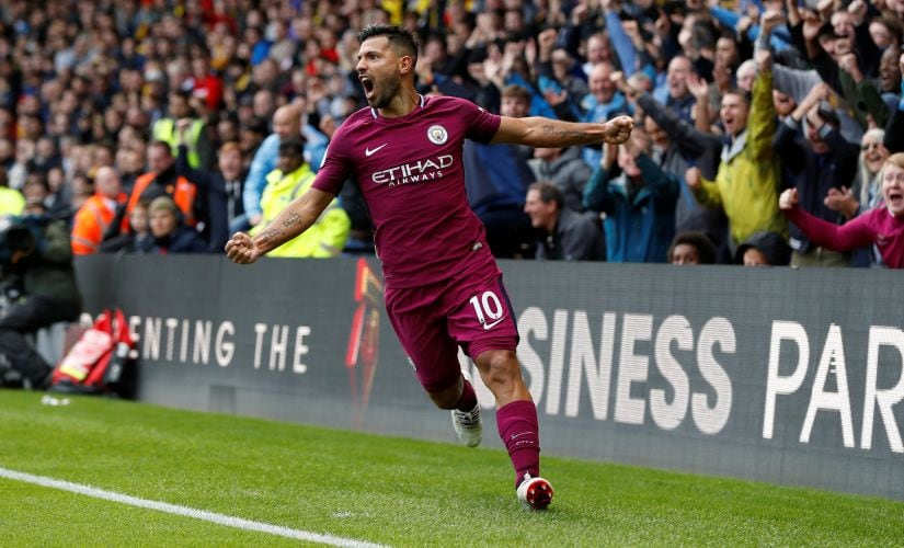 Manchester City's Sergio Aguero proved he is still the king of Premier League forwards with a hat-trick against Watford. Reuters