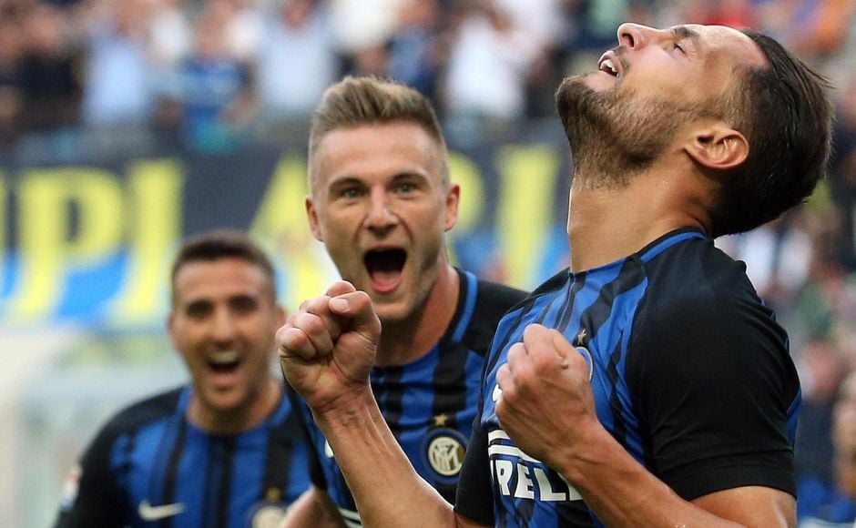 Inter Milan scored what was proved to be the winner when Danilo D'Ambrosio headed in a corner. AP