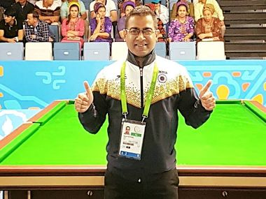 Sourav Kothari beats former champion Praprut Chaitanasakun to clinch gold in billiards at Asian Indoor Games