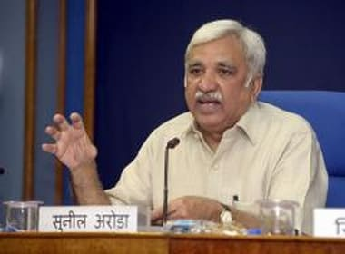 Chief Election Commissioner Sunil Arora says EVMs being 'tossed like a football' in political discourse