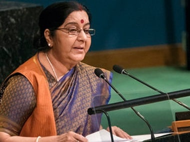 File image of External Affairs Minister Sushma Swaraj. AP