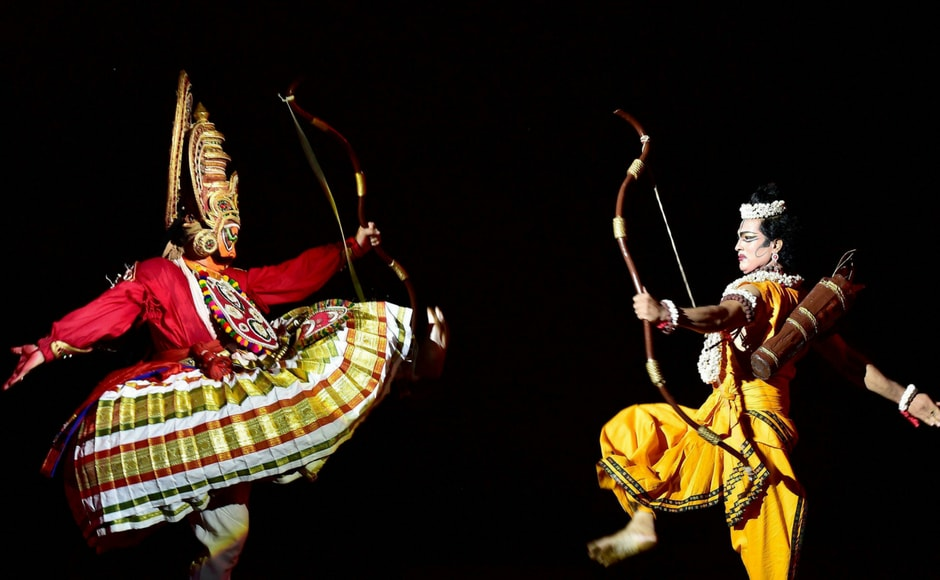 The culminating moment of a Ramleela performance is the dramatization of Ram's victory in face-to-face battle with Ravana. PTI