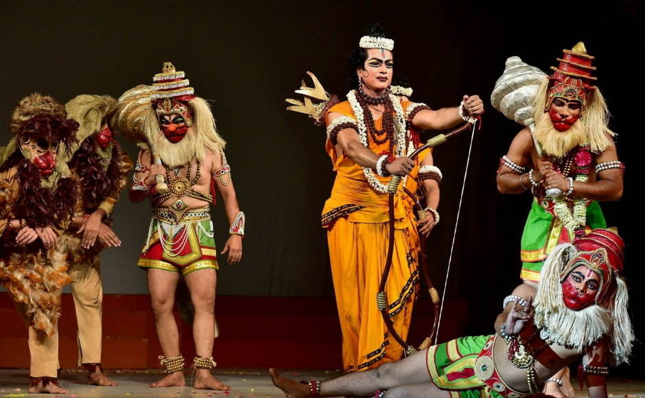 Ramleela originated in northern India in the sixteenth century in connection with religious devotion to Ram, the divine protagonist of the epic Ramayana. PTI