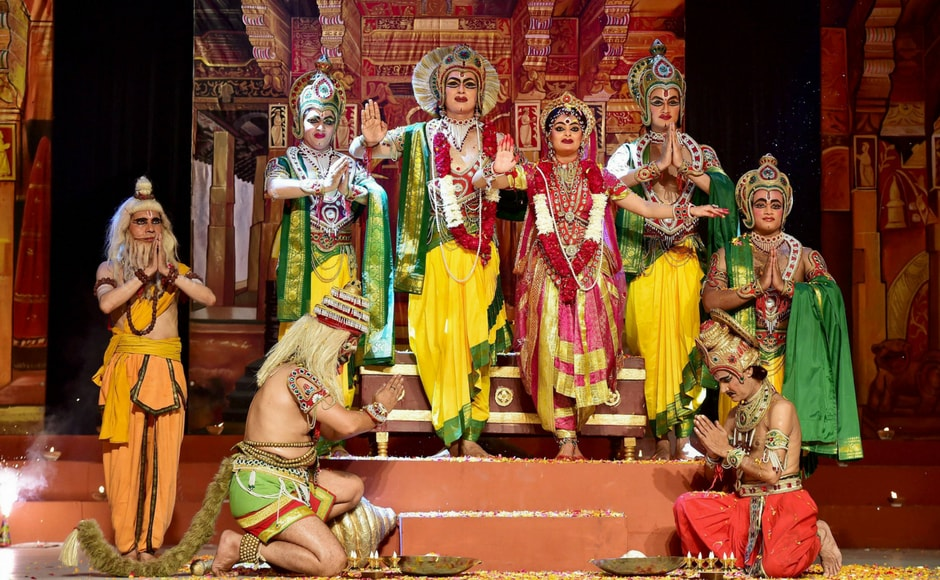 Ramleela, the enactment of various chapters of Ramayana, is performed in days around the Dussehra festival to celebrate the symbolic victory of good over evil. The performance culminates on Dussehra with Rama killing the demon-king Ravana. PTI
