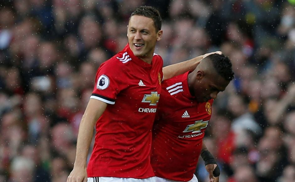 Manchester United got off to a dream start thanks to Antonio Valencia's (R) cracking strike that was assisted by Nemanja Matic (L). Reuters