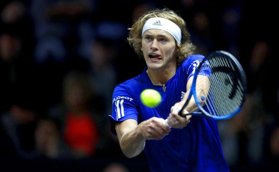Europe's Alexander Zverev faced World's Sam Querrey in the second match on Day 3. Zverev won 6-4, 6-4 to make it 12-6 in Team Europe's favour. AP