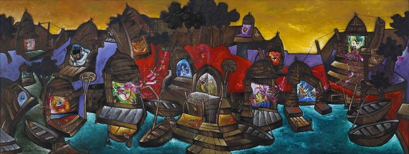 From the Banaras series by Manu Parekh