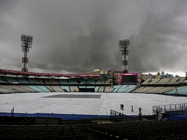 Things looked grim on Tuesday at Eden Gardens. AP