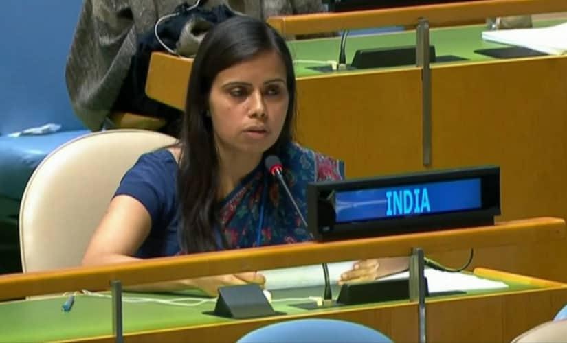 Eeram Gambhir at UN General Assembly. News18