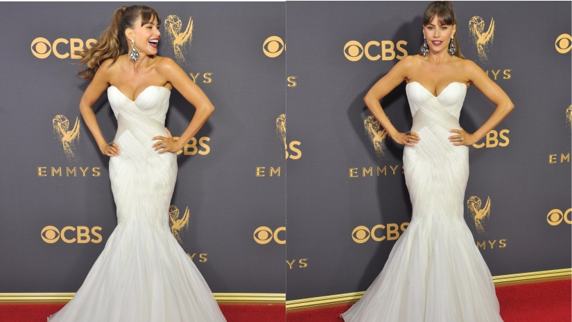 Sofia Vergara at the 69th Primetime Emmy Awards. Image from Getty Images.