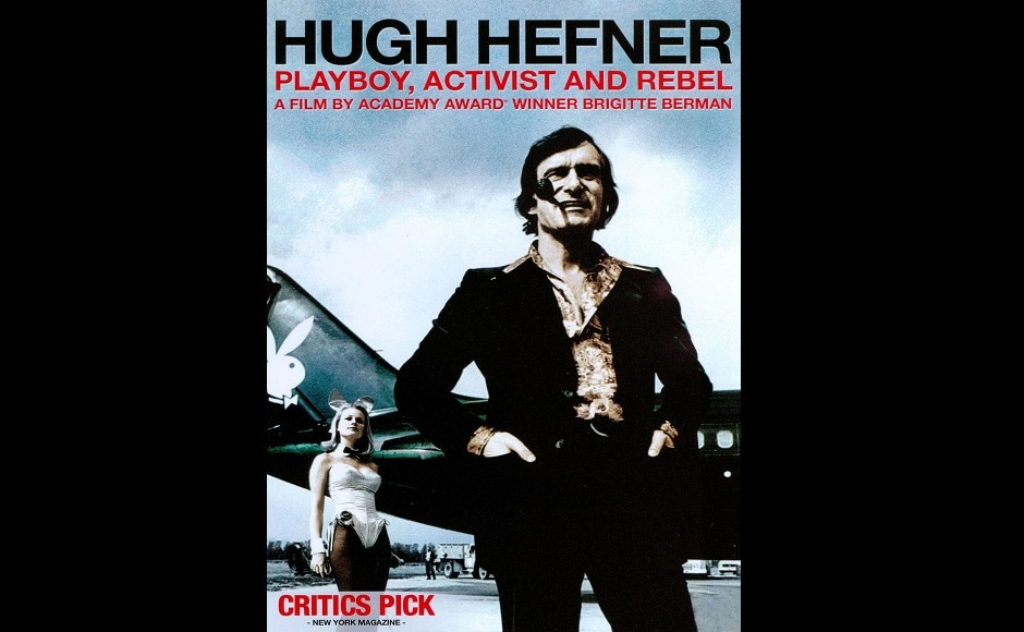 Poster of Hugh Hefner: Playboy, Activist and Rebel, the biographical documentary based on the mogul's life.