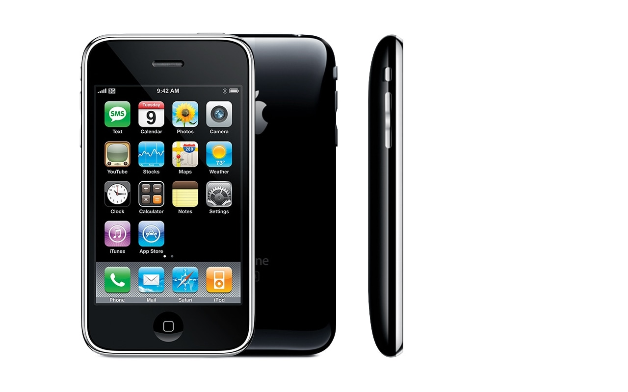 Apple announced the iPhone 3G, second generation of its iPhone lineup in June 2008. It launched the device in July 2008. The company introduced the iOS App Store along with 3G support with this device. Image: Apple
