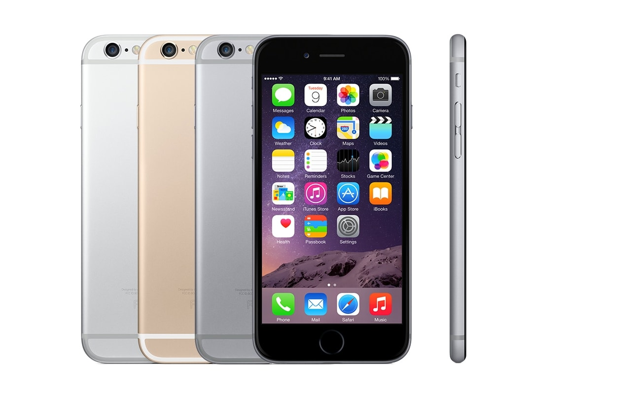 iPhone 6 was announced in September 2014 and released it later that month. It was the first device to increase the display size to 4.7-inch from the 4-inch devices that Apple had previously launched. Image: Apple