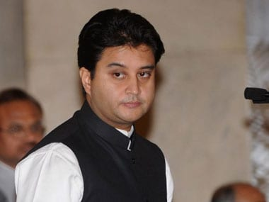 File image of Congress leader Jyotiraditya Scindia. AFP