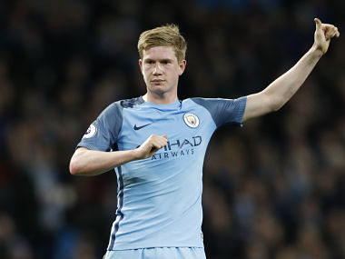 File image of Manchester City's Kevin De Bruyne. Reuters