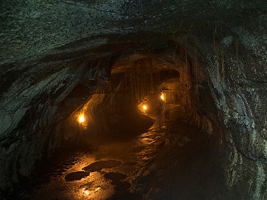Underground caves created by volcanic activity can provide town sized habitats on the Moon and Mars: Scientists