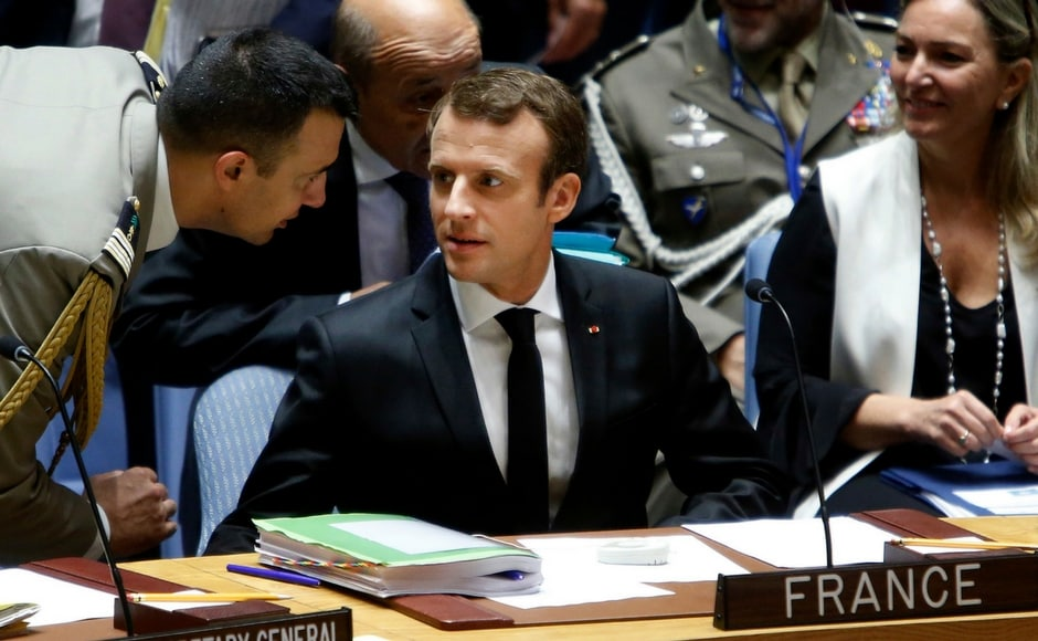 Apart from Trump, French President Emmanuel Macron also attended the high-level meeting of the United Nations Security Council on UN peacekeeping operations. AP