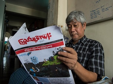 Myanmar cartoonists taking aim at Rohingya Muslims spread rapidly across countrys social media