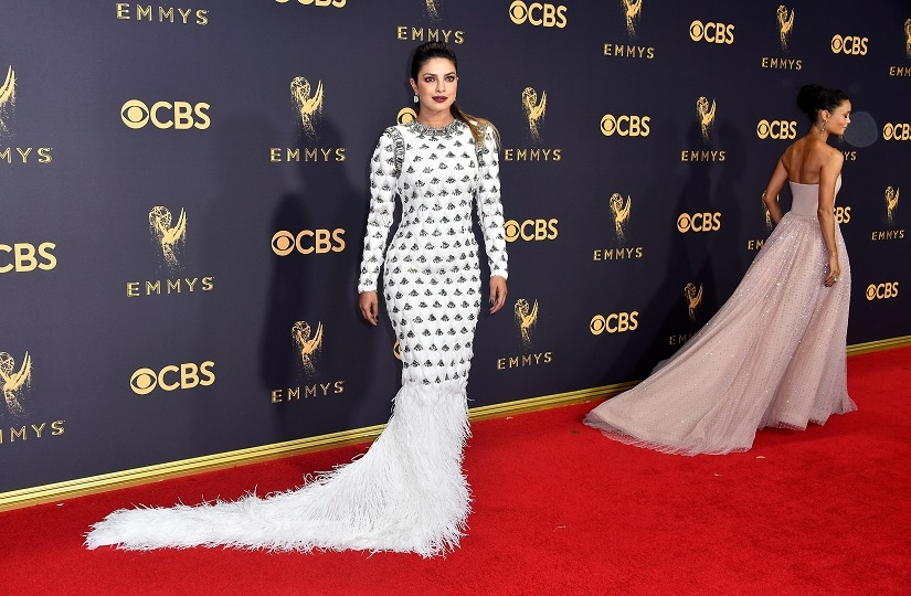 Priyanka Chopra on the red carpet of the 69th Primetime Emmy Awards. Image from Getty Images.