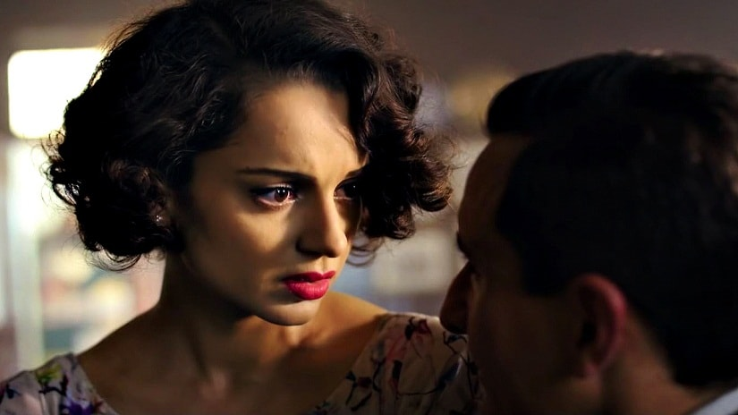 Kangana Ranaut and Saif Ali Khan in a still from Rangoon. Twitter