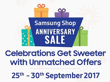 Samsung Shop Anniversary sale is offering discounts on smartphones and other products till September end