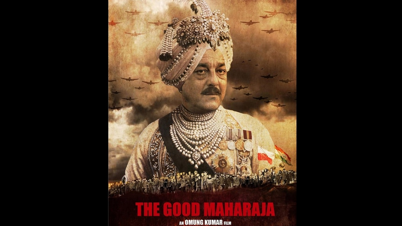 Sanjay Dutt's look from The Good Maharaja. Image from Twitter.