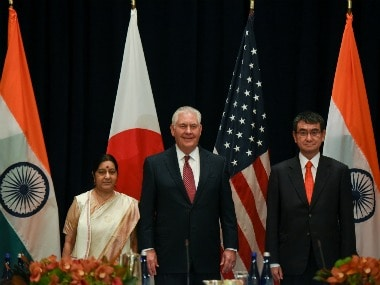 Sushma Swaraj holds trilateral talks with US, Japan counterparts at UN General Assemby, discusses maritime security
