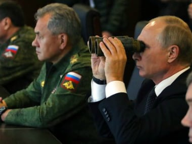 Vladimir Putin watches war games with Belarus as wary NATO eyes Russia