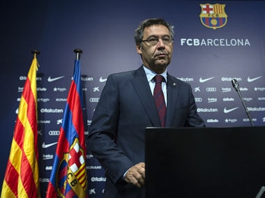 FC Barcelona president Josep Maria Bartomeu confirmed two of the club's board members resigned in the wake of his decision to play a match behind closed doors after a violent crackdown by police of an independence referendum for Catalonia. AFP