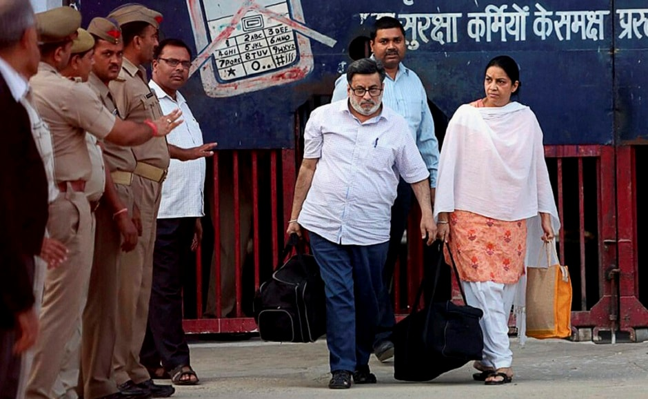 After their release, the police escorted the couple to the residence of Aarushi's maternal grandparents in Jalvayu Vihar in Noida. The Talwars lived in another flat — later rented out — in the same society, and it was there that Aarushi and Hemraj were found dead in 2008. PTI