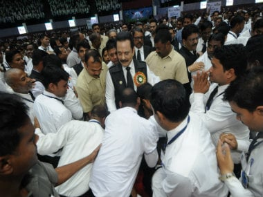 Sahara India chief Subrata Roy in Raipur. Pic courtesy: Sahara India