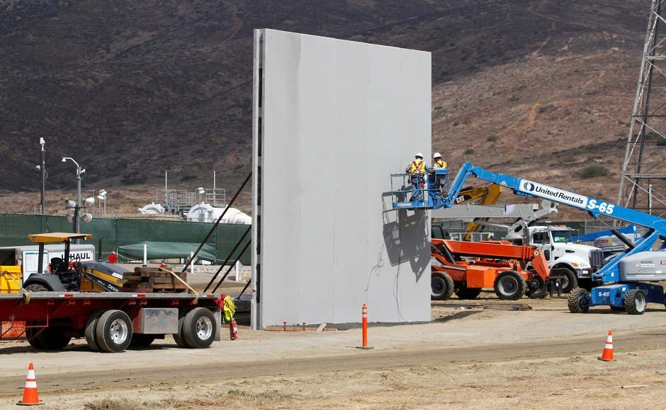 Six contractors from across the country were selected to build the eight prototypes, all of which will be completed this week. The builders paid attention to aesthetics in their bid to win lucrative contracts. One wall segment features deep-blue steel and another has a brick facade, standing in sharp contrast to the area's existing border fence, a ramshackle structure of corrugated steel left over from the Vietnam War. Reuters