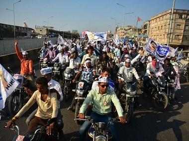 AAP roadshow in Gujarat. Twitter @AamAadmiParty