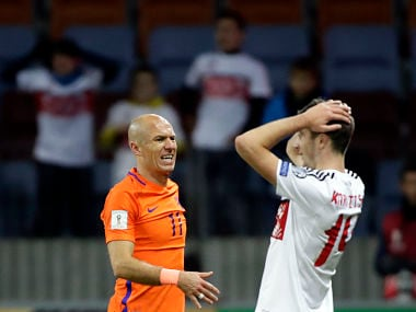 FIFA World Cup 2018 qualifiers: Netherlands need a miracle to qualify, says Arjen Robben