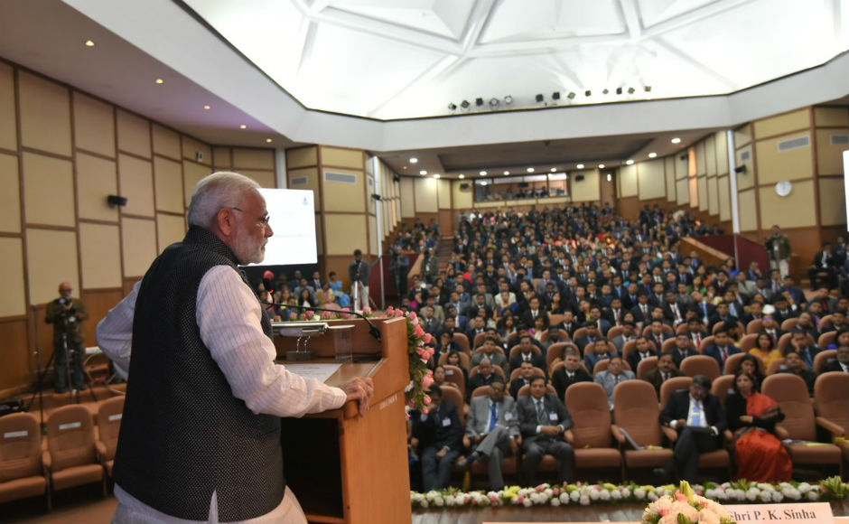 Later, he addressed over 360 officer trainees of the 92nd Foundation Course. Prime minister stressed on the importance of 'jan-bhagidaari', or public participation, for policy initiatives to be successfully implemented. Twitter/@PIB_India