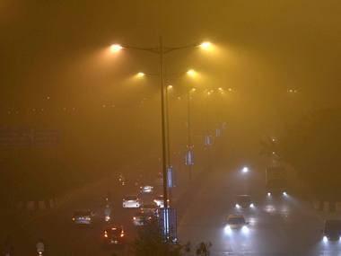 Air pollution in Delhi. File image. PTI