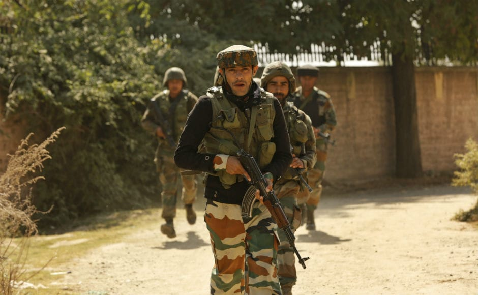 Airport operations were suspended in the morning due to the gunfight but later resumedafter security forces managed to limit the action around the building where the militants are holed up. AP