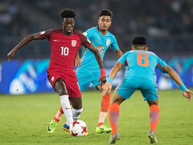 File image of India's Abhijit Sarkar #10 during FIFA U-17 World Cup against USA. Getty Images