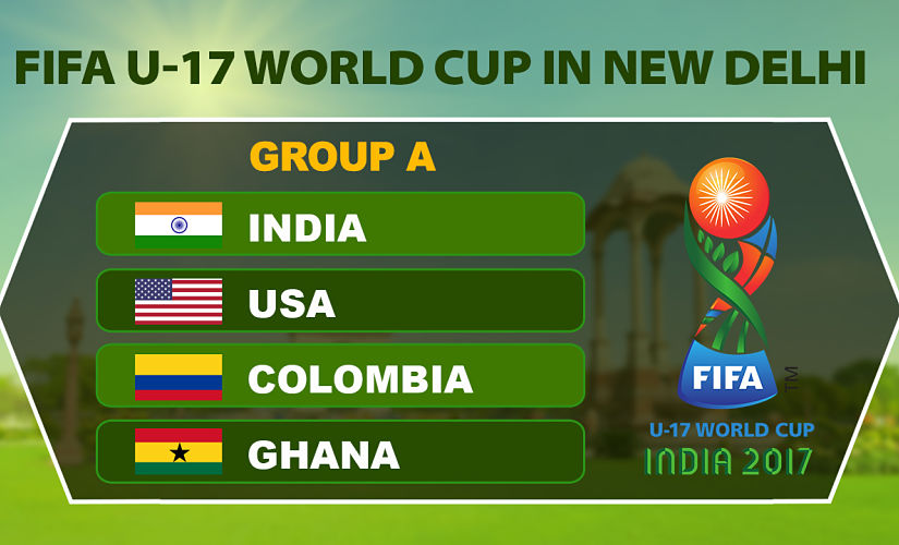 FIFA U-17 World Cup 2017: India hope against hope with USA, Colombia and Ghana in tough Group A