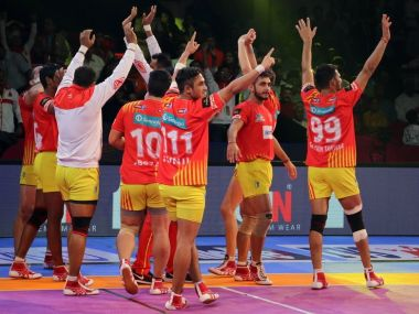 Gujarat Fortunegiants continued their dominance beating Jaipur Pink Panthers. Twitter @Fortunegiants