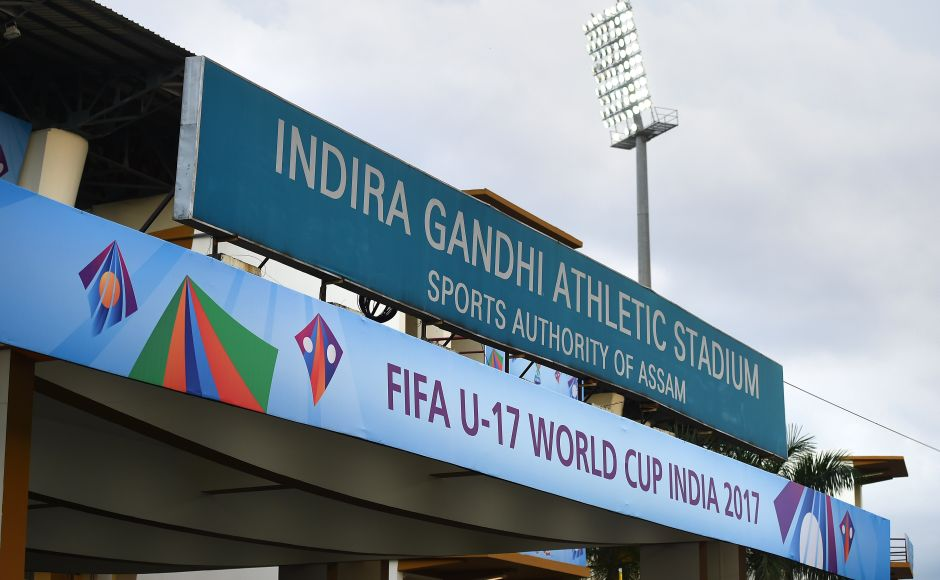 The Indira Gandhi Athletic Stadium in Guwahati played host to the second round of Group E matches that featured the clash between France and Japan. GettyImages