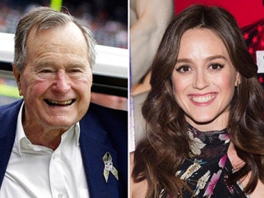 George HW Bush apologises to Heather Lind for groping her; New York actress Jordana Grolnick alleges he 'grabbed her' too